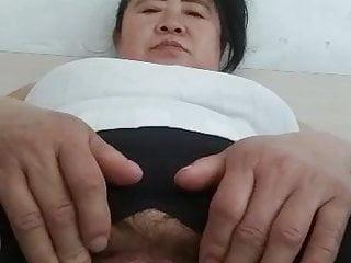Masturbating...
