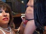 Secretary in black pvc mini skirt ( Blowjob and fuck )