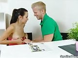 Lora is a young virgin and with her man having the doctor