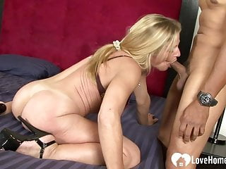 Slut gets shafted by her lover's hard cock