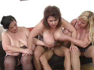 Three Mamas Wanna Party With Big Hunk Son