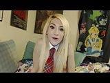 Skinny Blonde Tgirl