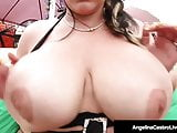 Cuban BBW Angelina Castro Fingers Pussy & Mouth Fucks A Cock