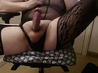 loves in lingerie boy Sissy to wank