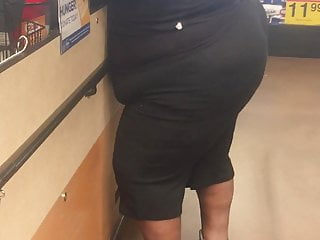 (Busted) Ebony Bubblebutt Candid NUT Booty