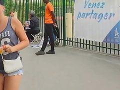 PAWG tourist in Paris