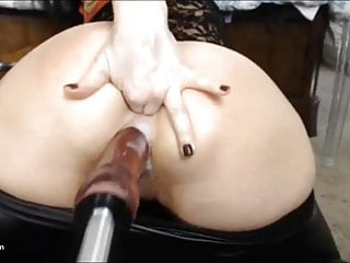 Pussy Drips from being Fucked Hard Anal Toy Inserted