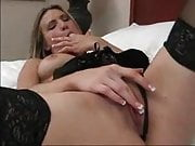Harmony rubbing her wet pussy