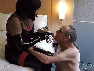 Rimjob and sucking pervert...