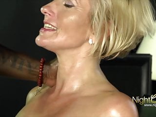 BLOND MILF vs Black Big Cock