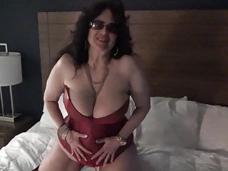 Big Boob MILF Barely Stays In Her Red Corset