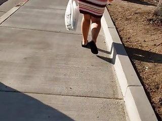 Candid street follow nice soft jiggly ass