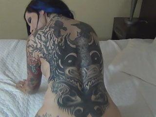 Alt tattooed big tit porn girl gets banged...
