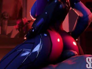 Overwatch widowmaker twerking and fucking anal...