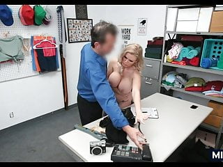 MILF with huge rack got busted