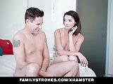 FamilyStrokes - Watching her stepson masturbate