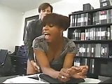 Black Busty Nympho Bitch Fucked in the Office....