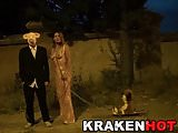 Krakenhot Exclusive video with redhead in public sex scene