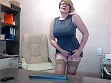 Mature secretary in sex video chat