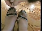 My insanely perverted GF knows how to give a nice footjob