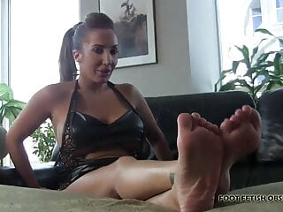 Cover our bare feet with your hot cum