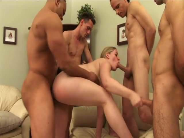 Big Tits Gangbang Blonde