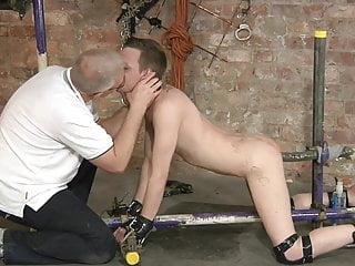 Bdsm cuffed twink must fuck himself bondage...