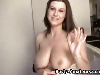 Sara Stone shaking her boobs and masturbate on cam