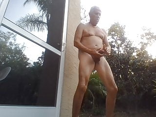 Florida guy stroking, a big load