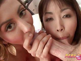 PervCity亞洲青少年吹簫三人行