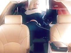 Bebe Rexha twerk on private plane
