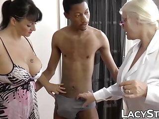 British granny shares big black cock with girlfriend...