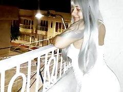 stepmom fucked on the balcony