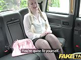 Fake Taxi Blonde likes older men in backseat of London cab