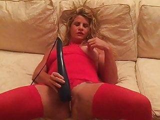 Stockings Masterbates Heels in Jersey Hotwife