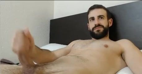 Cute guy jerk off and cums