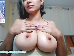 latina scarlett fondles big boobs and licks nipplesPorn Videos