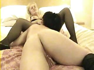 Wife first time has pussy and asshole licked by a lesbian