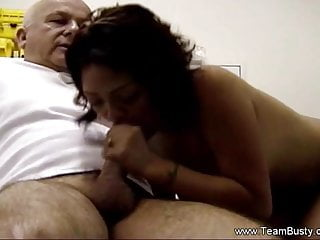 Arousing An Old Man By Cock Blowing And Arousing Feeling