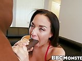 Monstrous black cock ass drilling little cutie Amara Romani