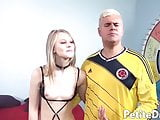 Petite blonde teen Lily Rader orally pleasured and fucked