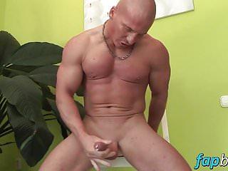 Muscular dude alfredo castaldo loves stroking his meatsicle...