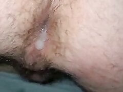 Dripping cum out my bubble butt