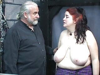 Thick big tit kinky is whipped and used...
