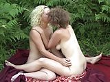 Yanks Lesbos Mira London And Ruby Wood Playing Outdoors