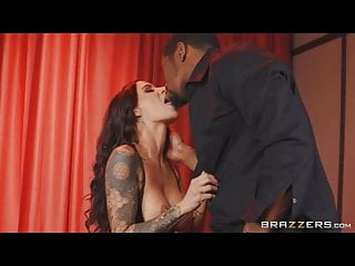 Hot brunette in latex gets fucked by a...
