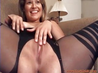 Check My MILF in hot crotchless body stockings