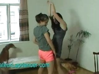 Amatuer teen does lapdance and bj...