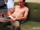 Tattooed Straight Guy Chase Masturbating His Cock