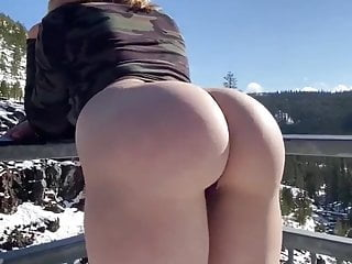 Gorgeous slut mia expose her big white butt...